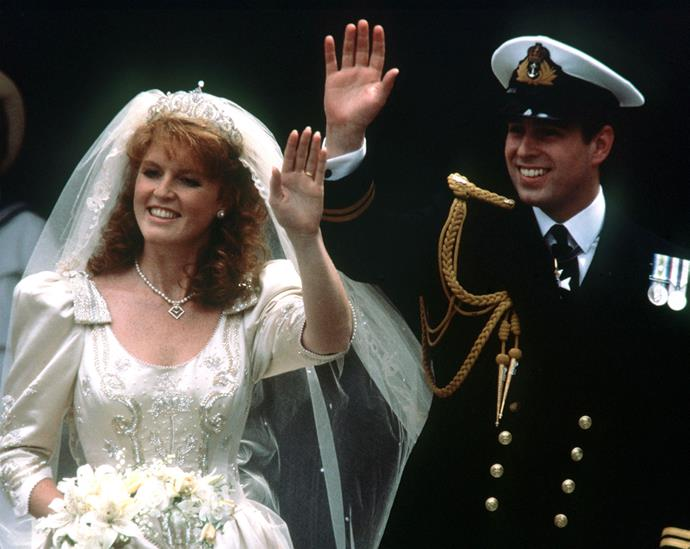Fergie and Prince Andrew were married in 1986.