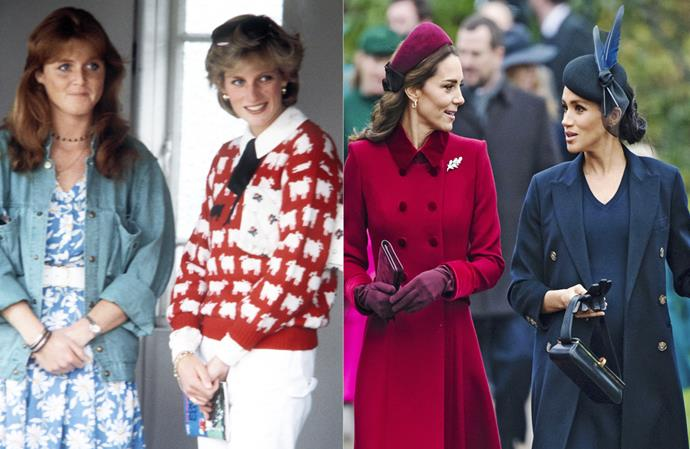 Kate and Meghan's fake feud mirrors that of Sarah Ferguson and Princess Diana.