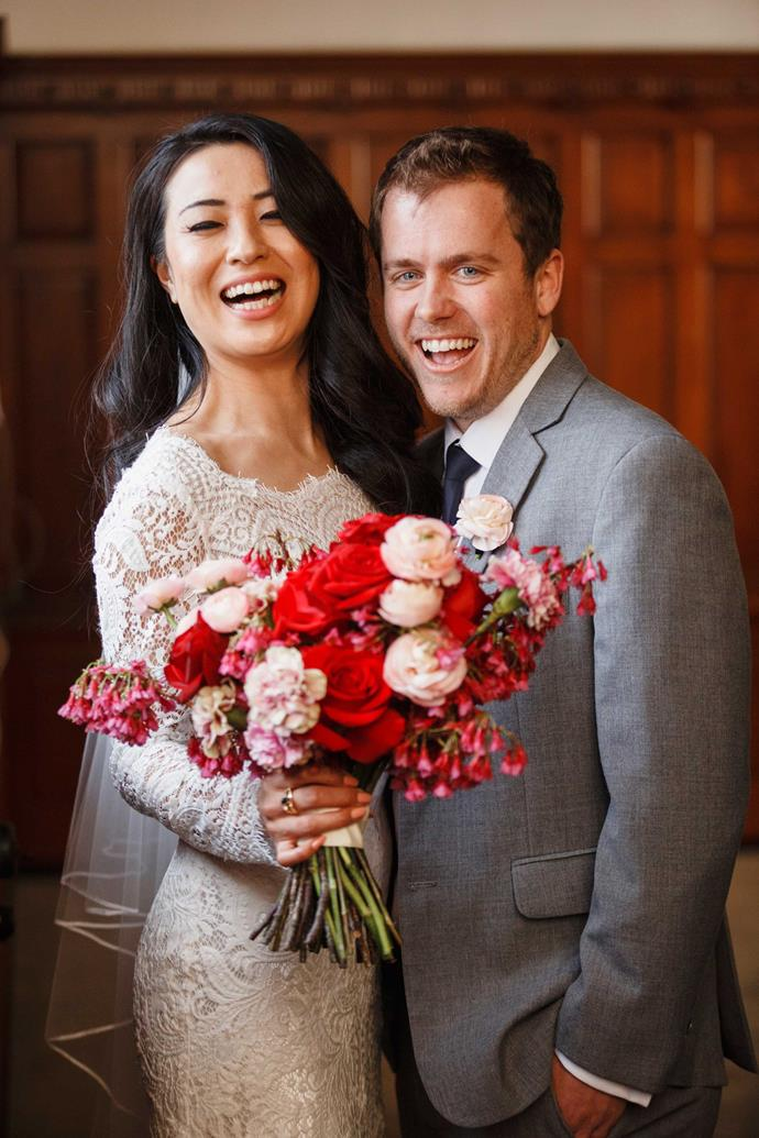 "[Yuki and Dan on their *Married At First Sight* NZ wedding day](https://www.nowtolove.co.nz/celebrity/tv/mafs-nz-yuki-and-dan-wedding-39232|target=""_blank"")."