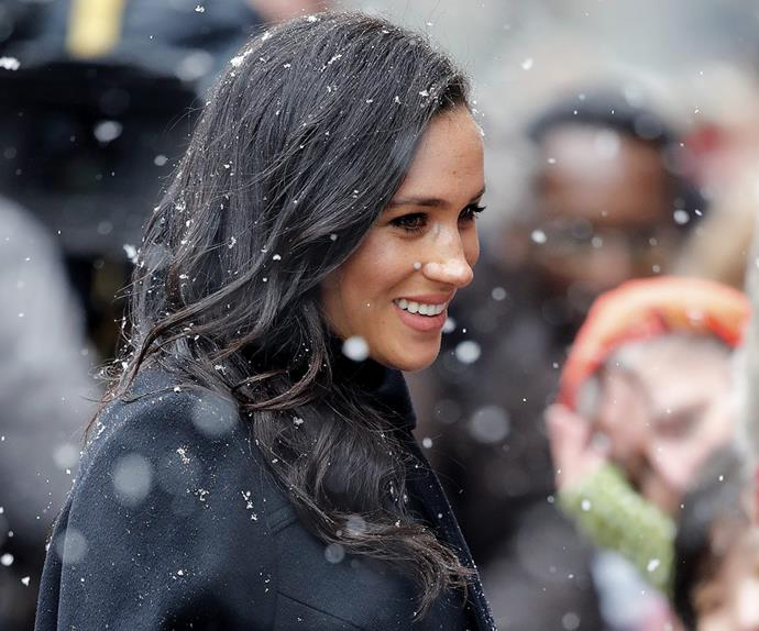 Meghan Markle in snow Duchess of Sussex