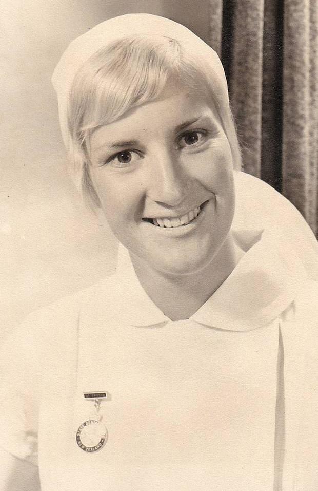 Annette as a young dental nurse.