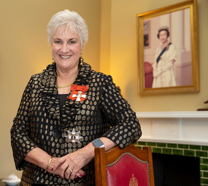 Dame Annette King after her investiture ceremony at Government House in Wellington in May 2018.