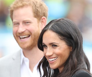 harry and meghan laughing