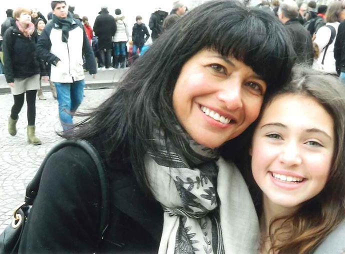 Carol and daughter Rosa on holiday together in Paris.