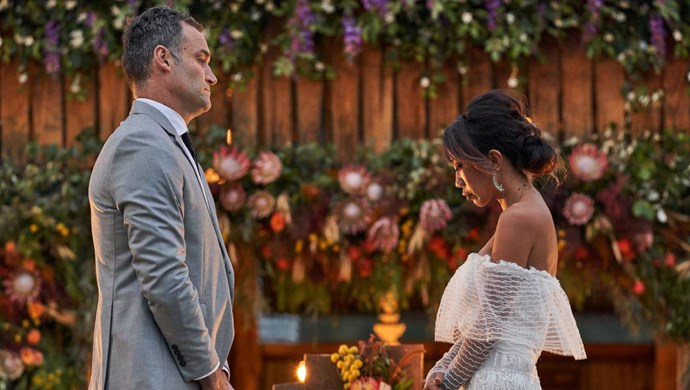 Mark did not deliver the news we wanted to hear at the couple's vow renewal ceremony.