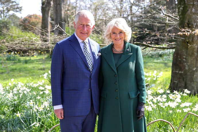 Charles and Camilla at Hillsborough Castle, Northern Ireland on their 14th wedding anniversary. *(Image: Getty)*