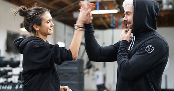 Zac Efron and Nina Dobrev share their intense workout