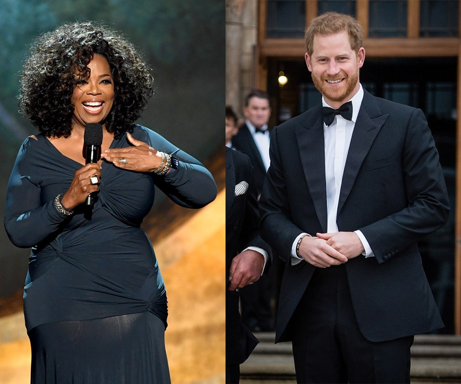 Oprah Winfrey and Prince Harry have teamed up to co-create a documentary series about mental health and wellbeing. *(Images: Getty)*