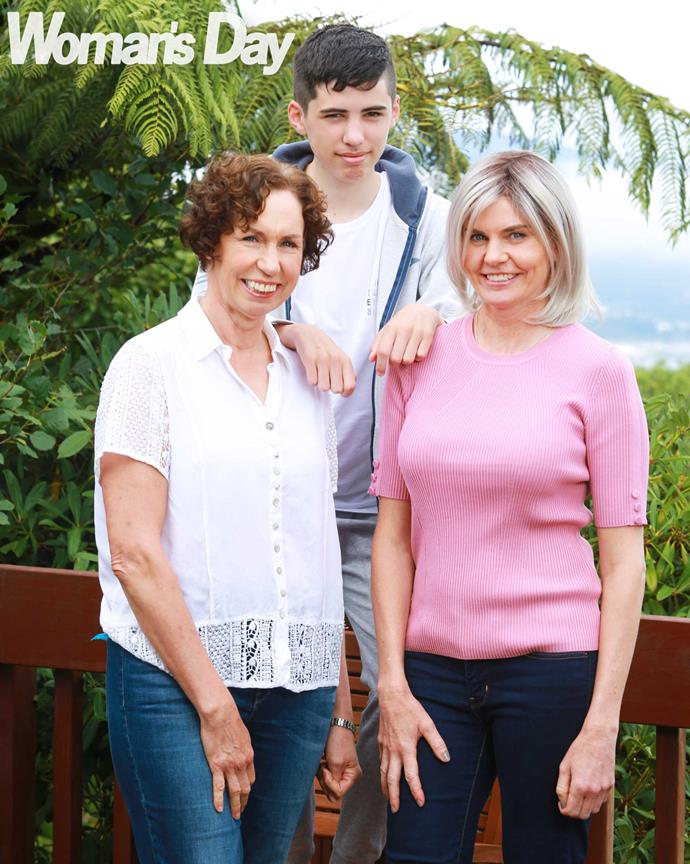 Nicky has a solid support crew in son Zac and sister Janine.