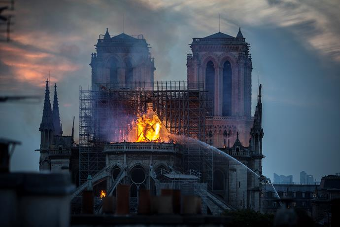 The tragic fire which swept through the Notre-Dame Cathedral on April 15. *(Image: Getty)*