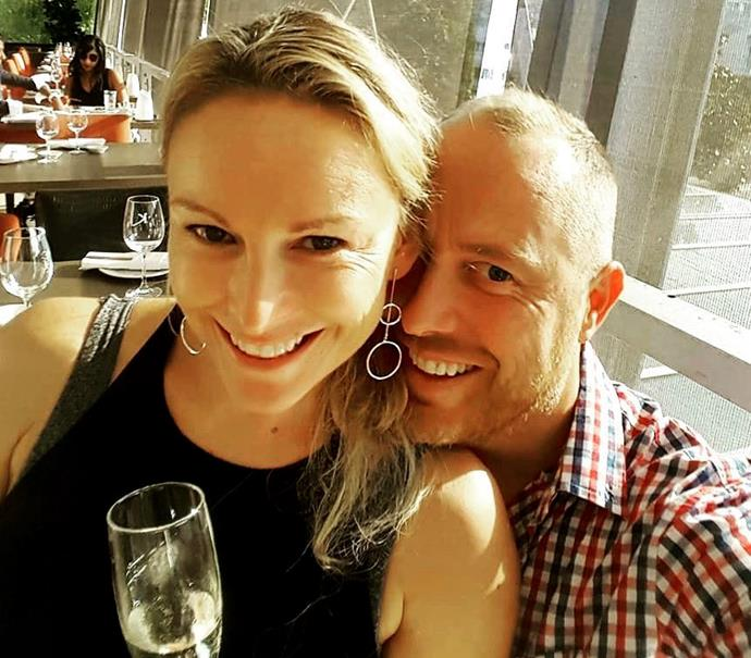 Mel and her husband Gareth. *Source: Instagram/mel_schilling1*