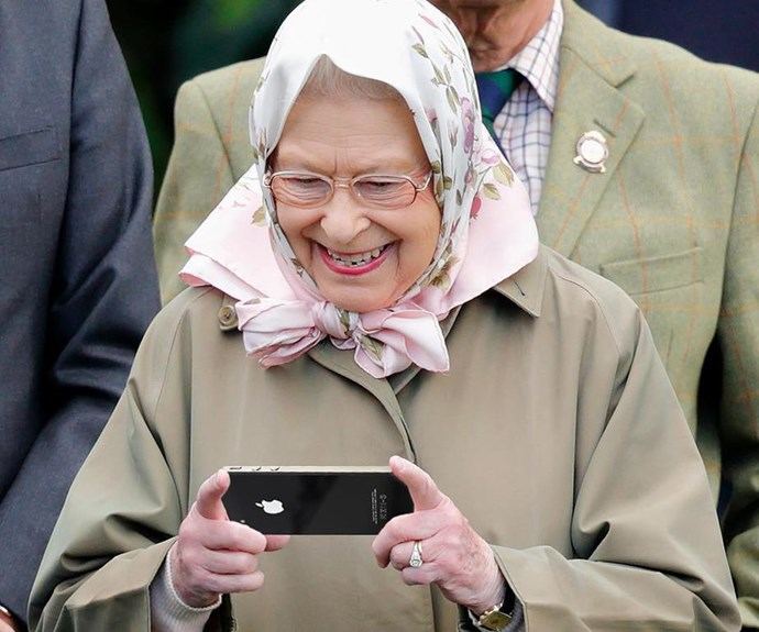 """She may have grown up in the era of the handwritten letter, but the Queen has always been open to embracing new technology. Here, she is captured [making her first Instagram post](https://www.nowtolove.co.nz/celebrity/royals/queen-first-instagram-post-40758