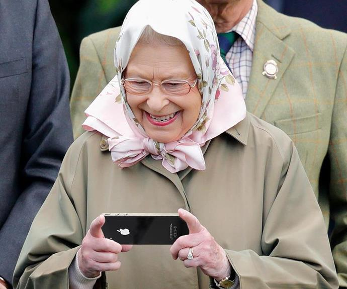 "She may have grown up in the era of the handwritten letter, but the Queen has always been open to embracing new technology. Here, she is captured [making her first Instagram post](https://www.nowtolove.co.nz/celebrity/royals/queen-first-instagram-post-40758|target=""_blank"") at the age of 92. She posted her pre-prepared photo and caption during a visit to London's Science Museum."