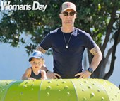 Doting dad Ronan Keating enjoys a family day out at Auckland's waterfront