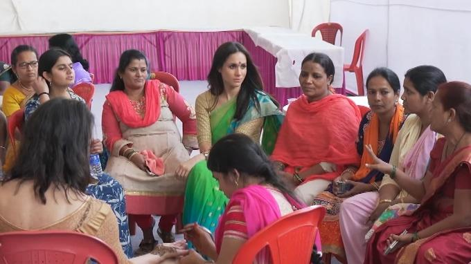 Meghan spoke with local women and girls about the stigma surrounding menstruation and how it affects their ability to pursue education. *(Image: World Vision)*