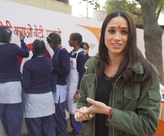 meghan markle in india with world vision