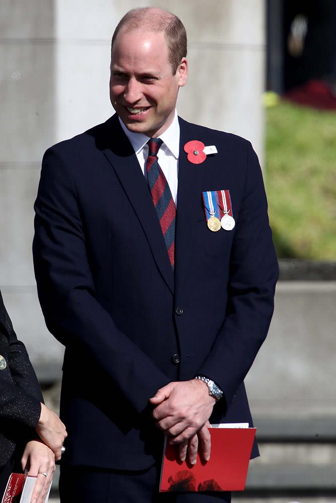 Prince William before the Auckland civic service began this morning. *(Image: Getty)*