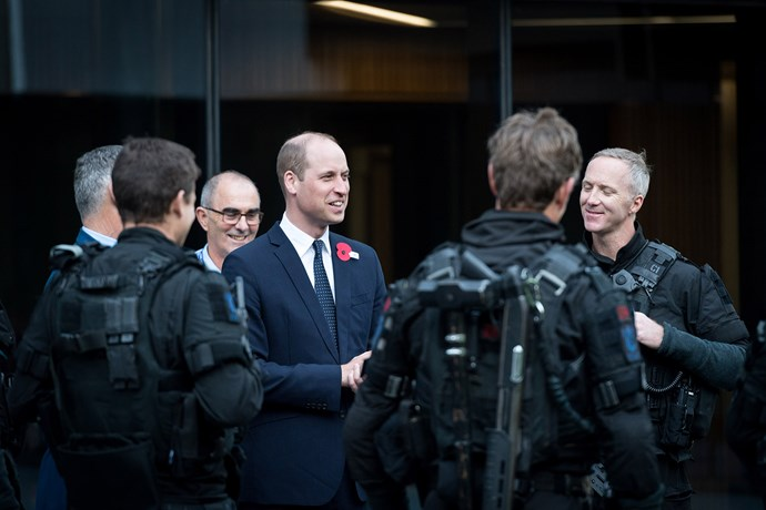 Prince William meets with first responders at the Justice and Emergency Services Precinct. *(Image: New Zealand Government)*