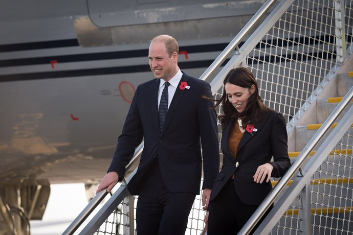Prince William and JAcinda Ardern arrive in Christchurch. *(Image: New Zealand Government)*