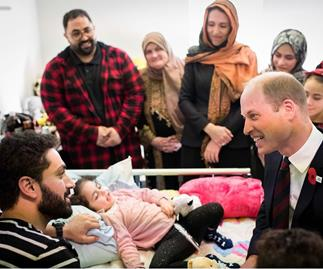 prince harry and five-year-old survivor of Christchurch terror attacks