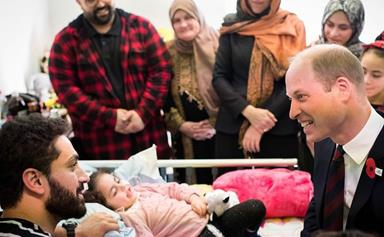 Prince William pays a surprise visit to a five-year-old survivor of the Christchurch mosque terror attacks