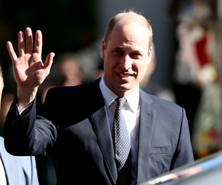 Prince William waves as he leaves the Al Noor mosque in Christchurch