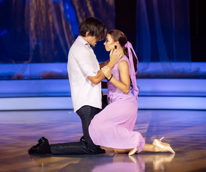 Is it just us or is Randell's ability to steam it up on the DWTS dance floor already rivalling last year's winner, Sam Hayes?