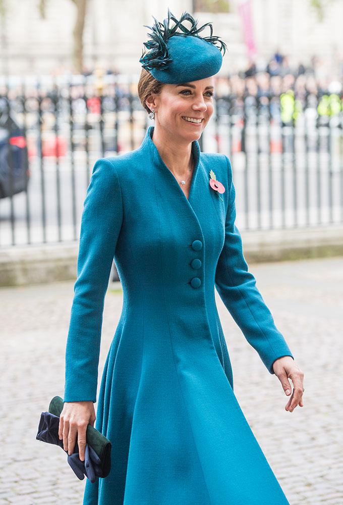 Kate attends the Anzac Day service at Westminster Abbey last week. *(Image: Getty)*