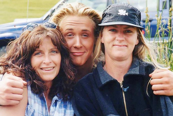 Before they were famous: Rosie (left) with a fresh-faced Ryan Gosling.