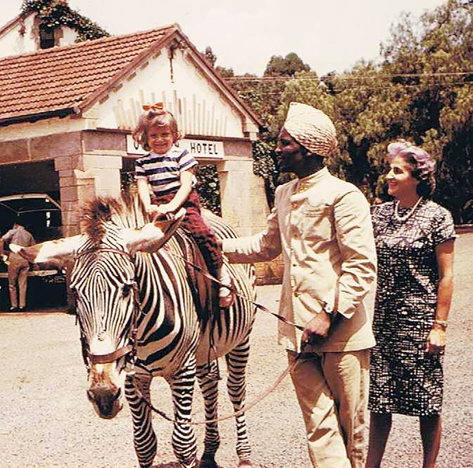 Rosie has fond memories of growing up around animals in East Africa, including a ride on a zebra.