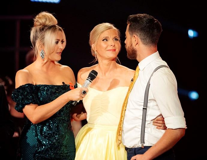 Jude and Matt say goodbye with host Sharyn Casey