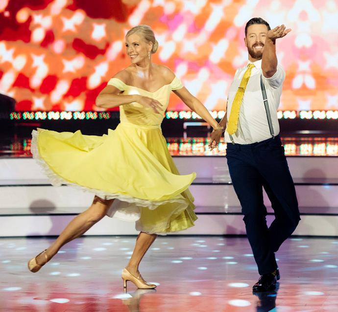 Jude and Matt dancing the foxtrot.