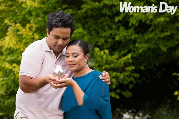 Holding their daughter's ashes close is helping to ease Reg and Mau's grief.