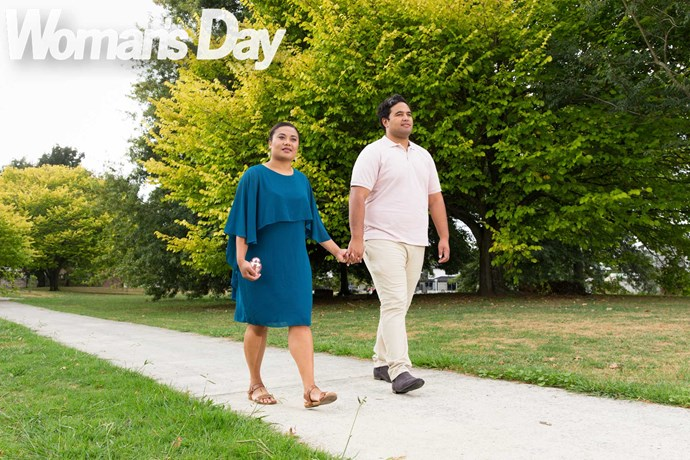 Whether they're shopping or heading to class at university, the couple carry the tiny urn with them.