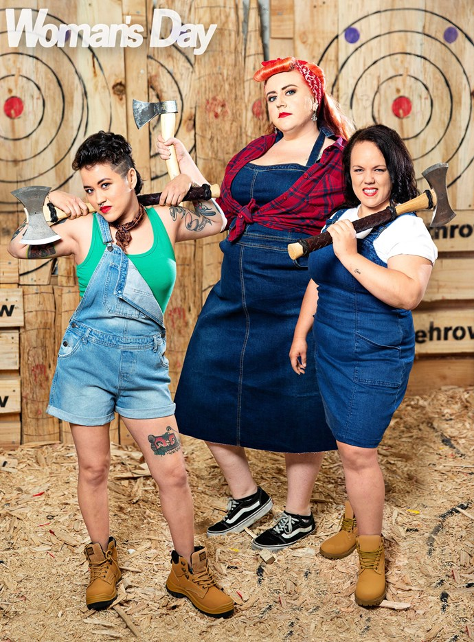 Talented trio (from left) Assassin Ashley, Bull's Eye Betty  (Erika) and Sniper Sarah are breaking new ground.