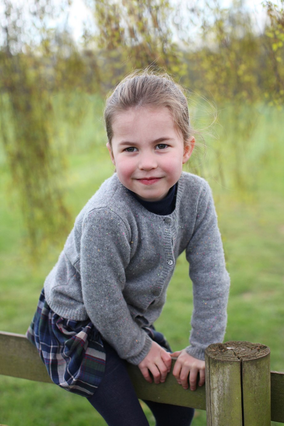 One of the gorgeous images taken by the Duchess of Cambridge of Princess Charlotte, ahead of her fourth birthday. *(Image: The Duchess of Cambridge via PA)*