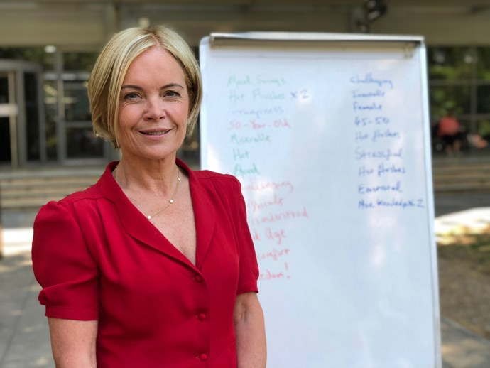 The BBC-funded documentary presented by well-known British journalist Mariella Frostrup follows her personal experience with menopause, the stigma that surrounds menopause and the treatments available to women now and in the future. *(Image: Supplied)*