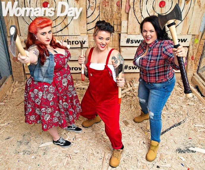 The three Wellington women on a mission to popularise the sport of axe throwing