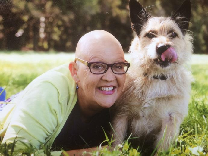 Lisa, six years ago, when she was undergoing chemotherapy. *(Image: Supplied)*