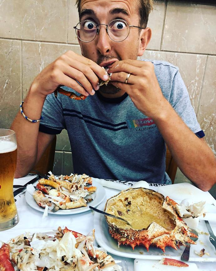 Simply delish! Todd couldn't get enough of the fresh seafood in Lisbon. *Image: Todd Emerson*