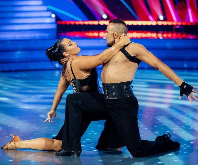 K'Lee performs the tango with Scott Cole.