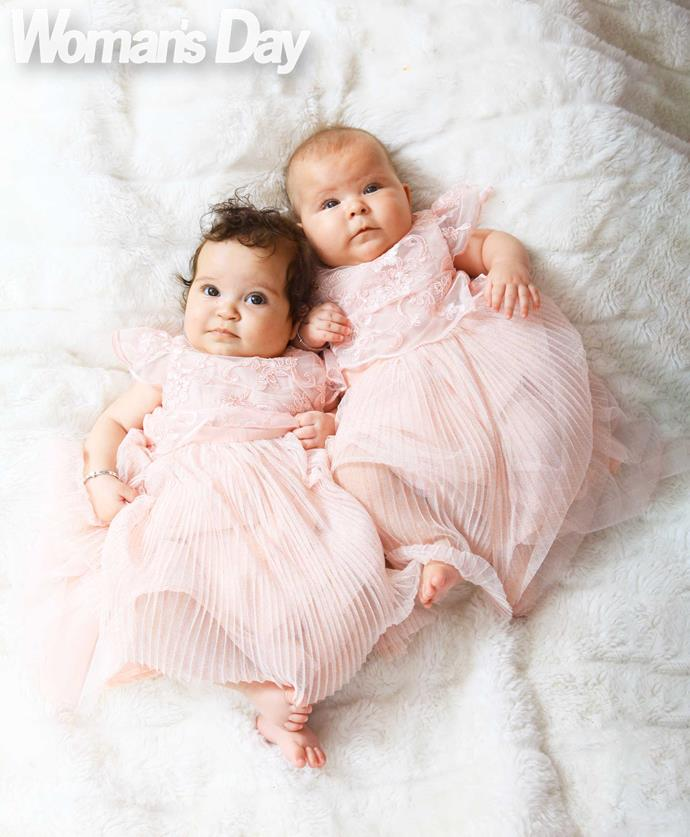 Cherubic twins Emma and Mackenzie.