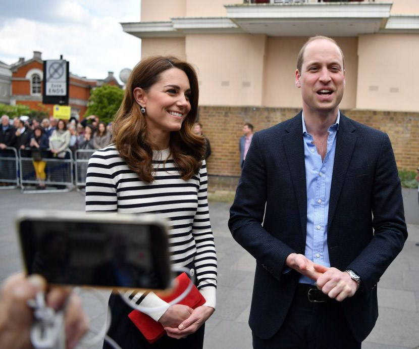"William and Kate shared their excitement at welcoming a new royal baby into the royal family and joked they were happy to welcome Harry and Meghan into the ""sleep deprivation society."" *(Image: Getty)*"