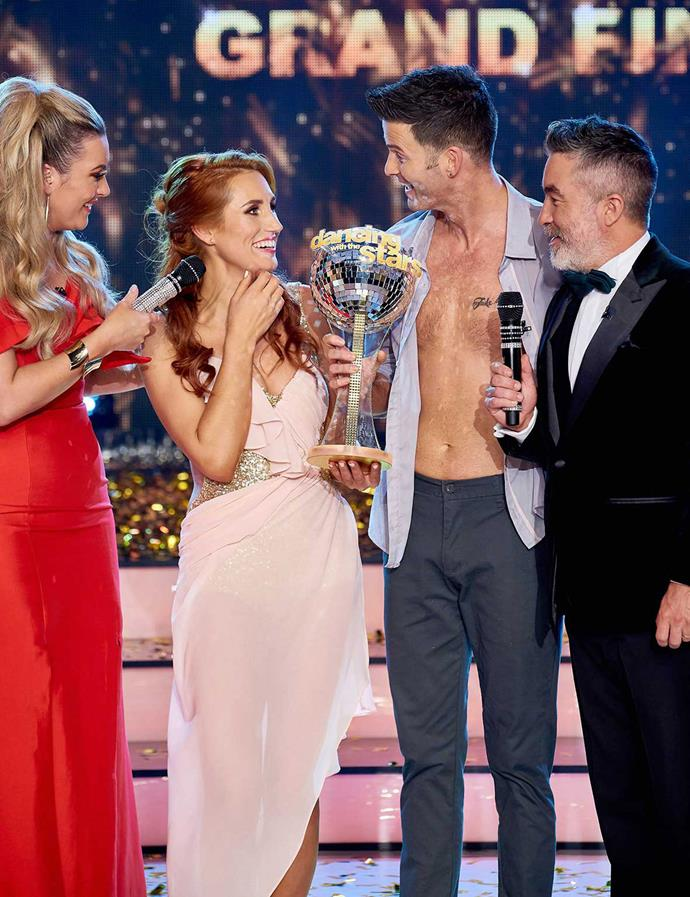 The moment Sam Hayes found out she'd won *Dancing with the Stars*.