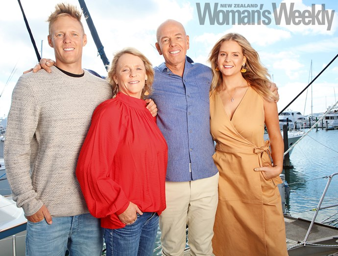 The family that sails together: Dan, Ulrika, Hamish and Anna in familiar territory – on a boat.