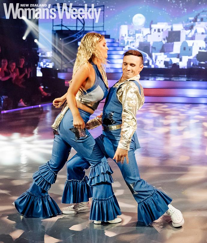 Anna and dance partner Brad Coleman go retro with a paso doble to ABBA hit Mamma Mia.