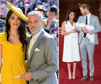 amal and george clooney and meghan markle prince harry and archie