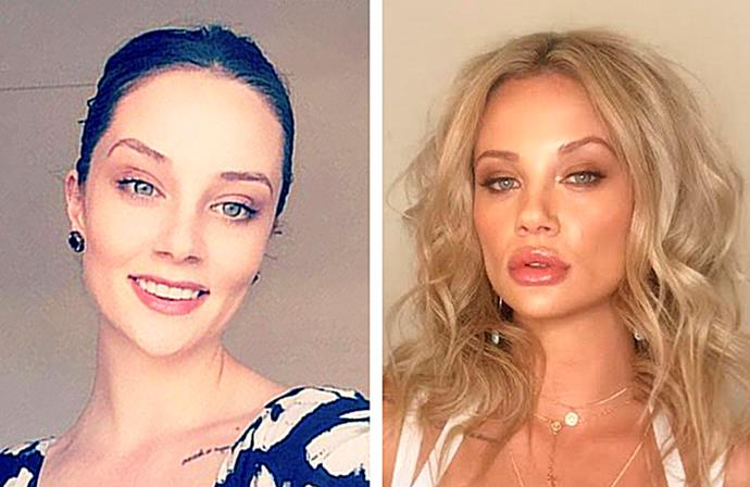 A fresh faced Jessika before she went on MAFS, and Jessika during her time on the show.