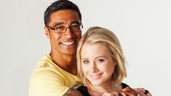 Pua and his on-screen love interest Sally Martin. The long-time friends first met on the set of *Power Rangers* before starring together in *Shortland Street.*