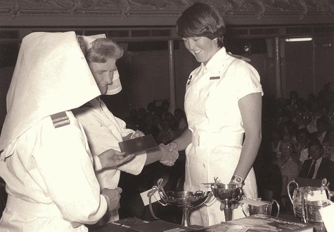 Jo aged 21, graduating as a nurse in 1976.